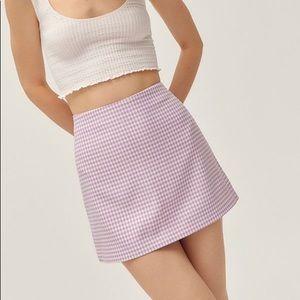 Urban Outfitters Checkered Purple Mini Skirt